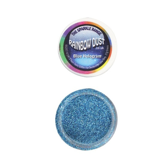 Rainbow Dust Hologram Blue Sparkle Glitter