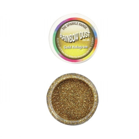 Rainbow Dust Hologram Gold Sparkle Glitter