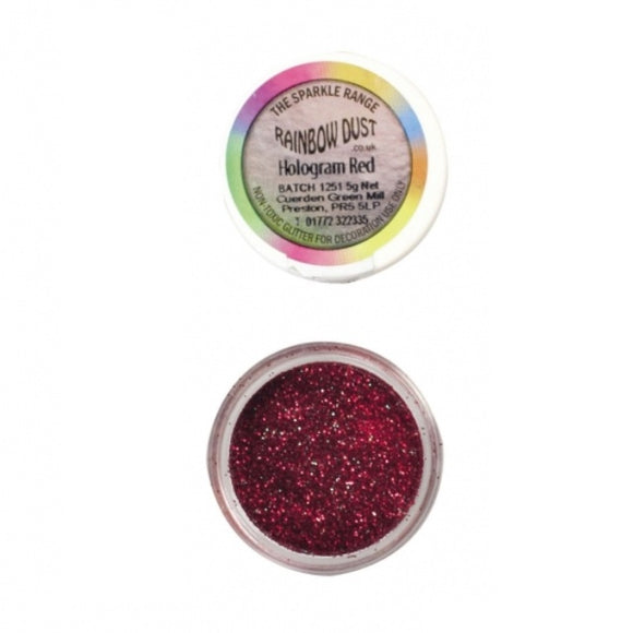 Rainbow Dust Hologram Red Sparkle Glitter