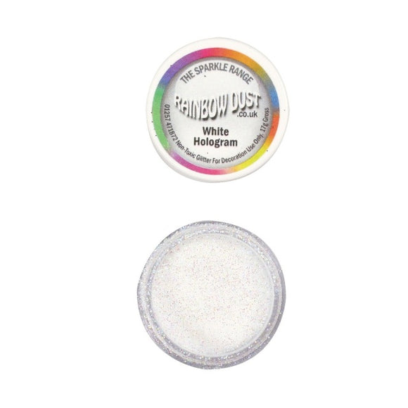 Rainbow Dust Hologram White Sparkle Glitter