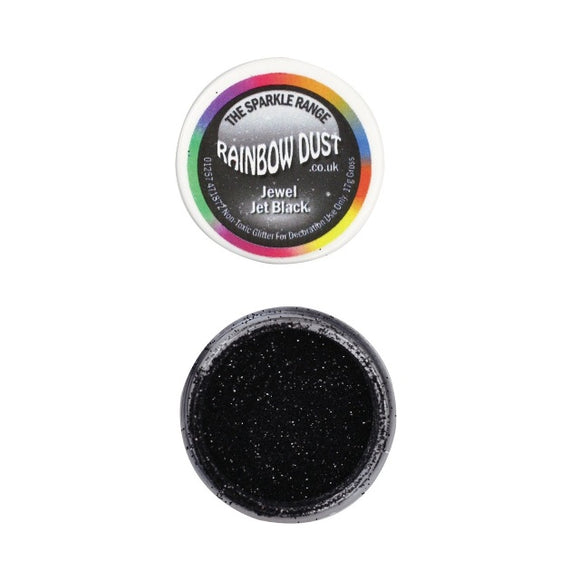 Rainbow Dust Jewel Jet Black Sparkle Glitter