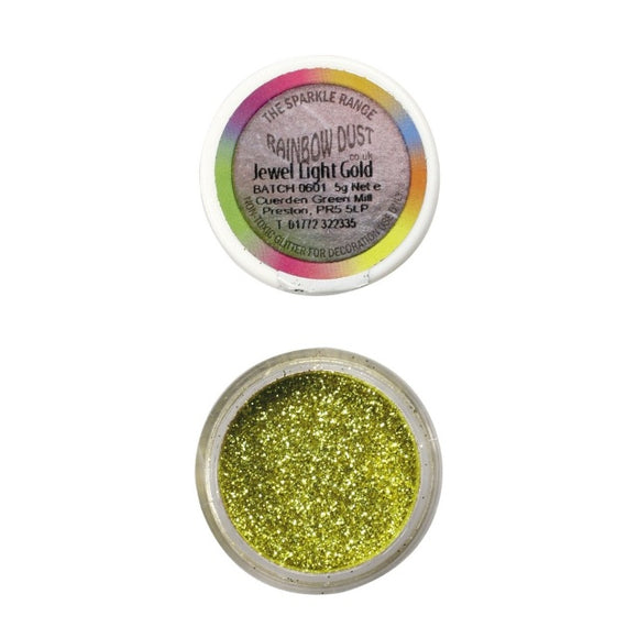 Rainbow Dust Jewel Light Gold Sparkle Glitter