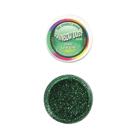 Rainbow Dust Jewel Lush Lime Sparkle Glitter