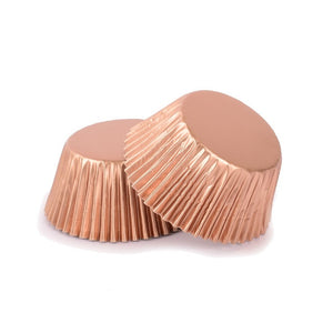 Rose Gold cupcake cups - 25 pack