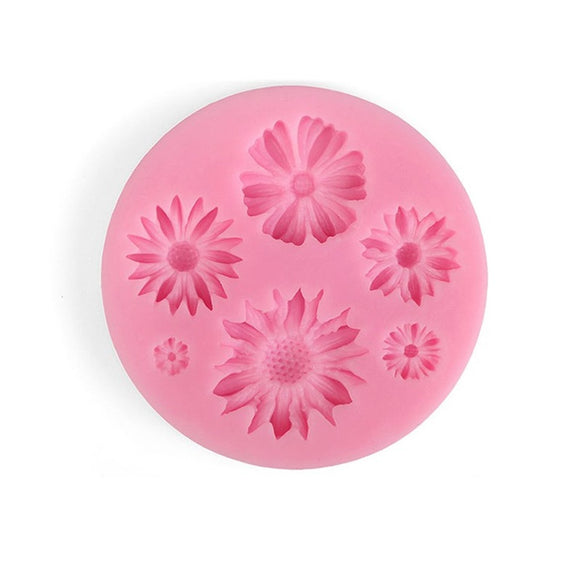 Assorted Flowers Silicone Mould