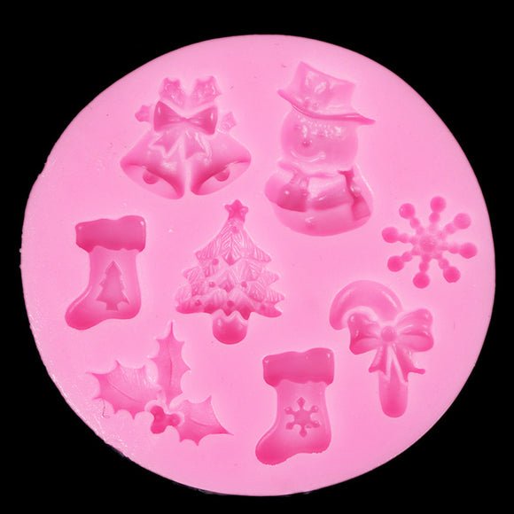 Mini Christmas Assorted Silicone Mould