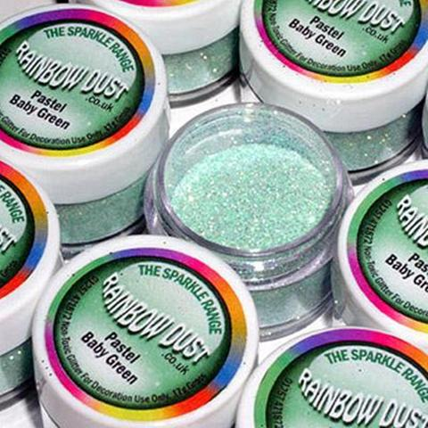 Rainbow Dust Pastel Baby Green Sparkle Glitter