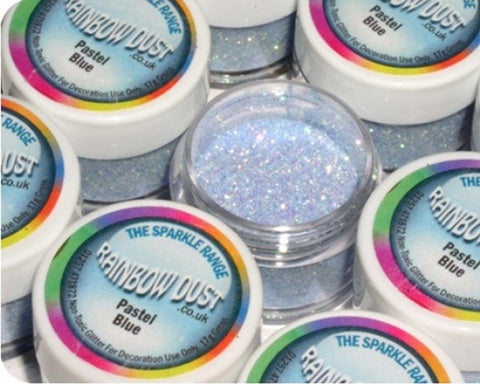 Rainbow Dust Pastel Blue Sparkle Glitter