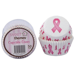 Pink Ribbon Cupcake Cups 50 pack