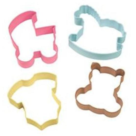 Wilton Baby Theme Cookie Cutter 4pce Set
