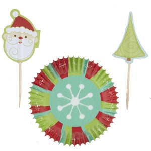 Wilton Snowflake Wishes Cupcake Cup and Pick Combo set