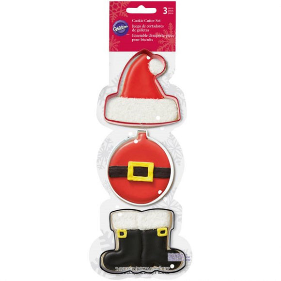 Wilton Santa Shaped Christmas cookie cutter set (3 piece)