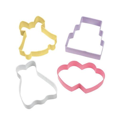 Wilton Wedding Cookie Cutter set 4
