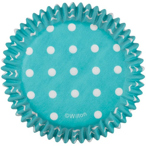 Wilton Blue Polka Dot Cupcake Cups (75 pack)