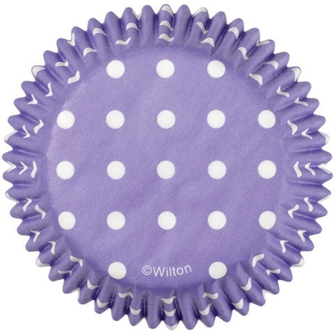 Wilton Purple Polka Dot Cupcake Cups (75 pack)