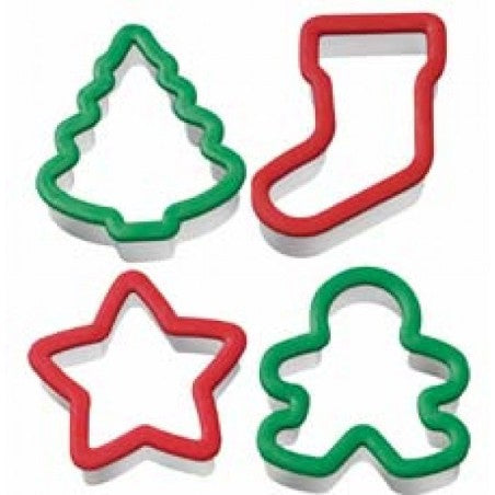 Wilton Christmas Holiday Grippy Cookie Cutter 4pce set