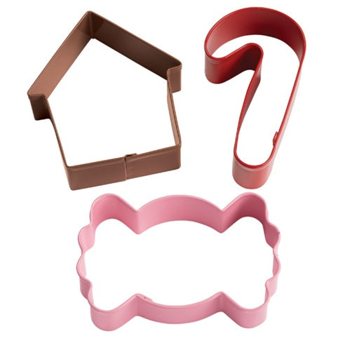 Wilton Holiday Candy Cookie Cutter set of 3