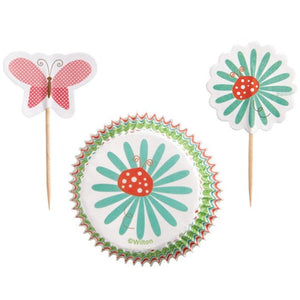 Wilton Modern Garden Party Cupcake and Pick Combo set