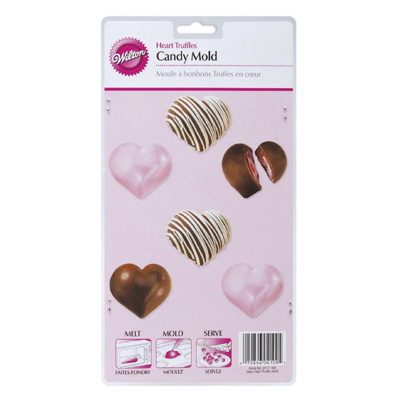 Wilton Deep Heart Truffle Chocolate Mould