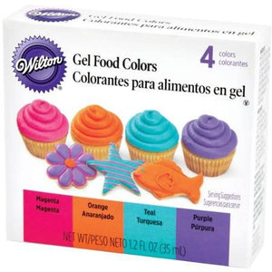 Wilton Neon/Bright Gel Icing Colour set (4 pack)