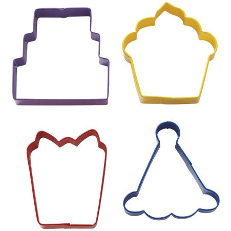 Wilton Party Cookie Cutter set of 4