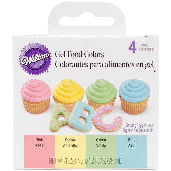 Wilton Pastel Gel Icing Colour set (4 pack)