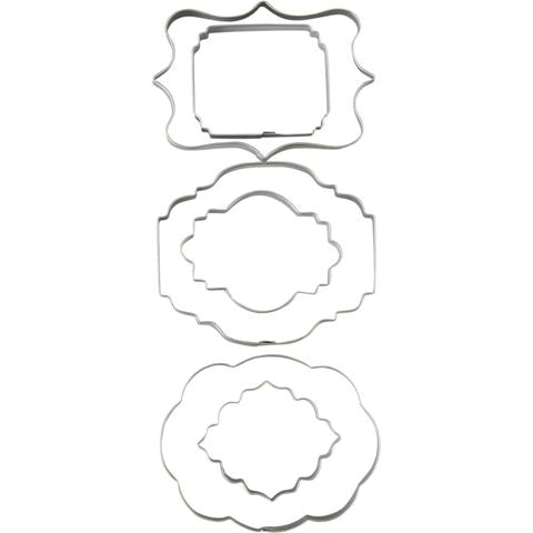 Wilton Plaque Fondant Cut-Outs Set (6 piece)