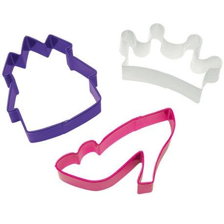 Wilton Princess Cookie Cutter 3pce Set