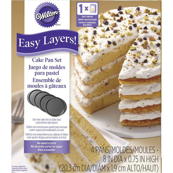 Wilton Easy Layers Round 20cm (8 inch) Cake Pan Set
