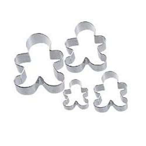 Wilton Gingerbread Man Nesting Cookie Cutter 4pce set
