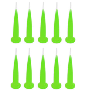 Green Bullet Candles - set of 10