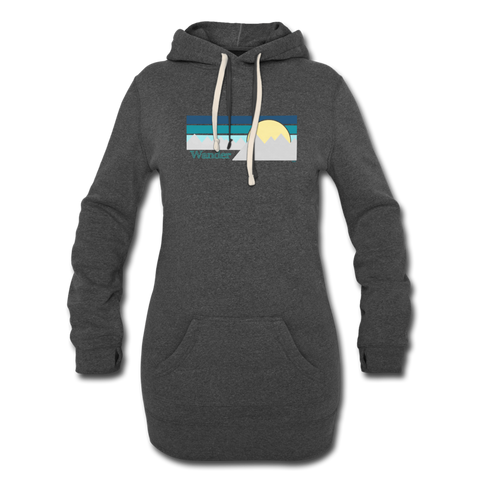 Wander II Women's Hoodie Dress - heather black