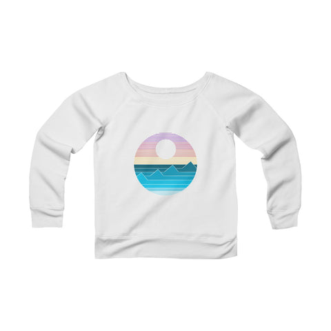 Waves- Women's Sponge Fleece Wide Neck Sweatshirt