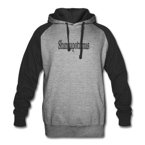 Colorblock Hoodie - heather gray/black