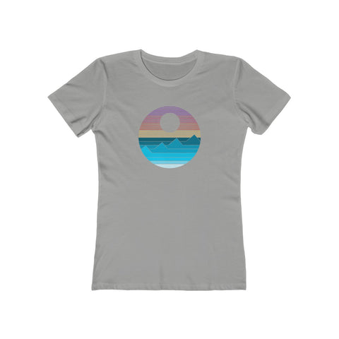 Waves - Women's Fitted Boyfriend Tee
