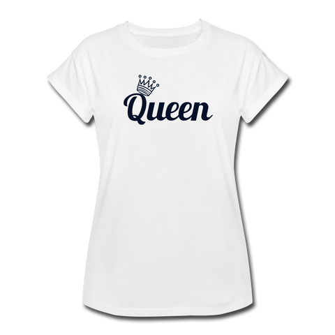 Queen Women's Relaxed Fit T-Shirt - white