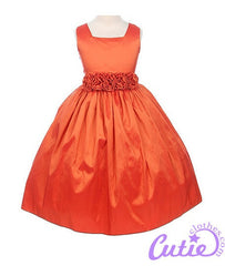 Orange Flower Girl Dress - 03047