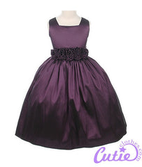 Plum Flower Girl Dress - 03047