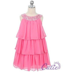 Pink Flower Girl Dress - 3707