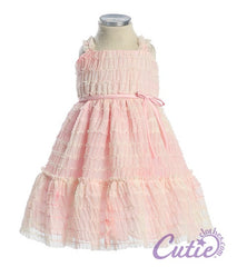 Ruffle Mesh Baby Dress - B244