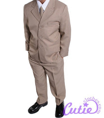 Taupe Boys Suit - M104
