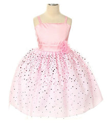 Pink Flower Girl Dress - 208
