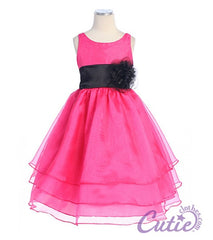 Fuchsia Girls Dress - 574