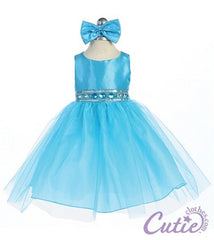 Turquoise Baby Dress - B548
