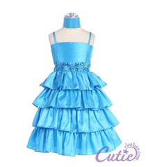 Turquoise Girls Dress - D583