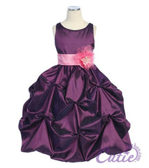 Purple Flower Girl Dress - 599