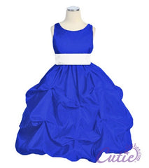 Royal Blue Girl Dress - 599