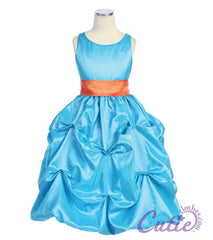 Turquoise Flower Girl Dress - 599