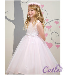 Pink Flower Girl Dress - 1098