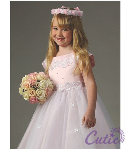 Pink Flower Girl Dress - 1102